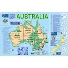 Учебные карты. Карта Австралии на английском языке (58 х 87 см). Вакс Э.