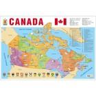 Учебные карты. Карта Канады на английском языке (58 х 87 см). Вакс Э.