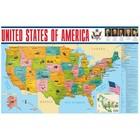 Учебные карты. Карта США на английском языке (58 х 87 см). Вакс Э.