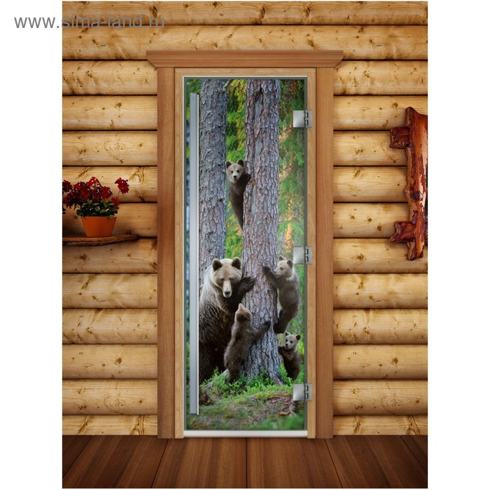 Дверь «Престиж» с фотопечатью, размер коробки 190 × 70 см, левая, цвет А064