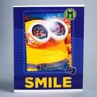 """Блокнот А5, 48 листов на скрепке """"Smile"""" Гадкий Я, белизна 95%, картонная обложка"""