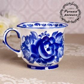 Чашка «Улыбка», 11,5×9×8 см, гжель