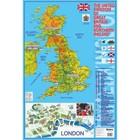Учебные карты. Карта Великобритании на английском языке (58 х 87 см). Вакс Э.
