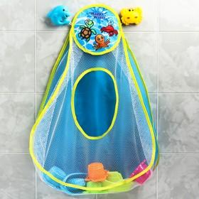 """УЦЕНКА Набор игрушек для ванной, """"Крабик, дельфин, сетка"""" 3 шт"""