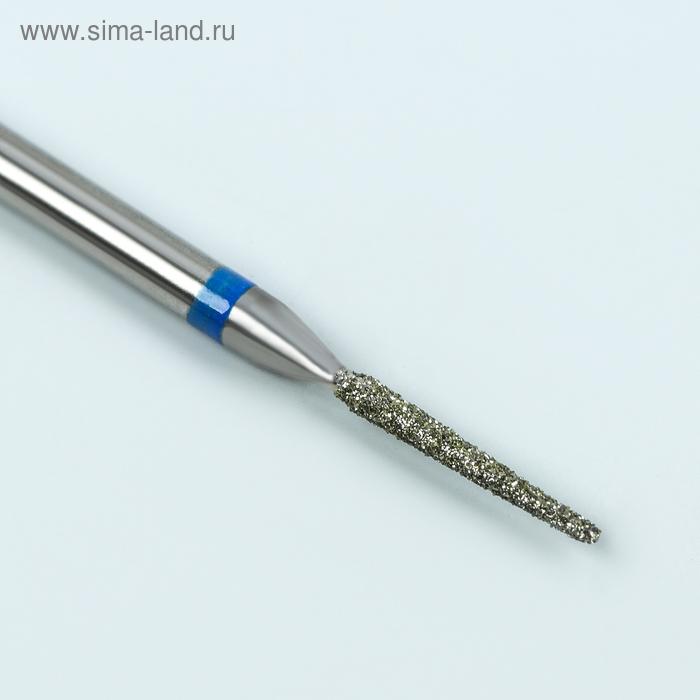 Фреза алмазная для маникюра «Игла», средняя зернистость, 1,4 × 10 мм
