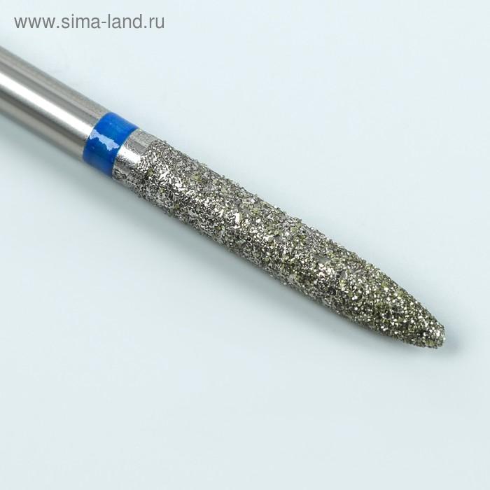 Фреза алмазная для маникюра «Игла», средняя зернистость, 2,3 × 14 мм