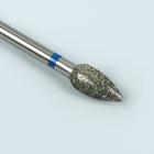 Фреза алмазная для маникюра «Пламя», средняя зернистость, 4,5 × 9 мм