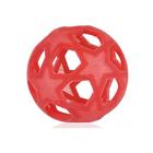 Прорезыватель Hevea Star ball, из натурального каучука, цвет красный