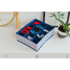 Органайзер для белья Доляна «Волна», 18 ячеек, 35?30?12 см, цвет синий