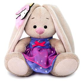 Мягкая игрушка «Зайка Ми» в платье с единорогом на ушке, 15 см