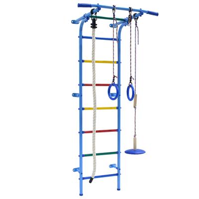 Детский спортивный комплекс Start mini, 600 × 470 × 1800 мм, цвет голубой/радуга - Фото 1