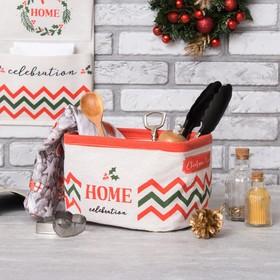 Текстильная корзинка  Этель 'Home' 14х7,2 см Ош