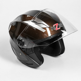 Шлем HIZER B208-1, размер M, коричневый Ош