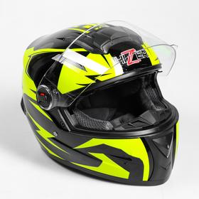Шлем HIZER B561-1, размер L, чёрный, жёлтый Ош