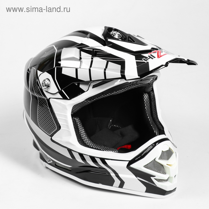 Шлем HIZER B6195-1, размер L, белый, чёрный