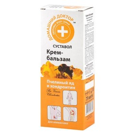 Крем-бальзам для тела Домашний доктор «Пчелиный яд и хондроитин», 75 мл