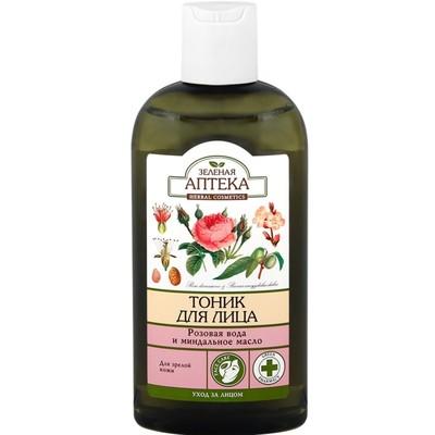 Тоник для лица Зелёная Аптека «Розовая вода и миндальное масло», для зрелой кожи, 200 мл