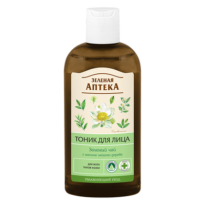 Тоник для лица Зелёная Аптека «Зелёный чай», для всех типов кожи, 200 мл - Фото 1