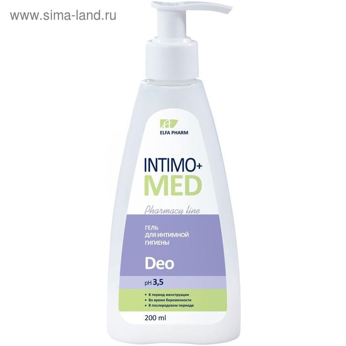 Гель для интимной гигиены Intimo+med Deo, pH 3,5,во время беременности и после, 200 мл