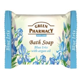 Туалетное мыло Green Pharmacy «Голубой ирис», с аргановым маслом, 100 г