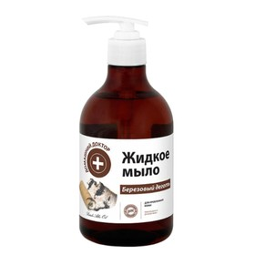 Жидкое мыло Домашний доктор «Березовый деготь», 480 мл
