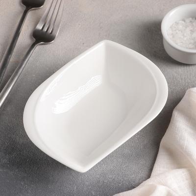 Салатник «Лист», d=15 см, цвет белый - Фото 1