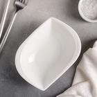 Салатник «Лист», d=15 см, цвет белый - Фото 2