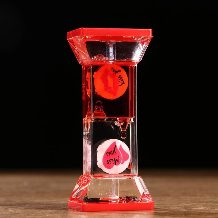 Часы песочные с жидкостью Смайлики, цвета МИКС