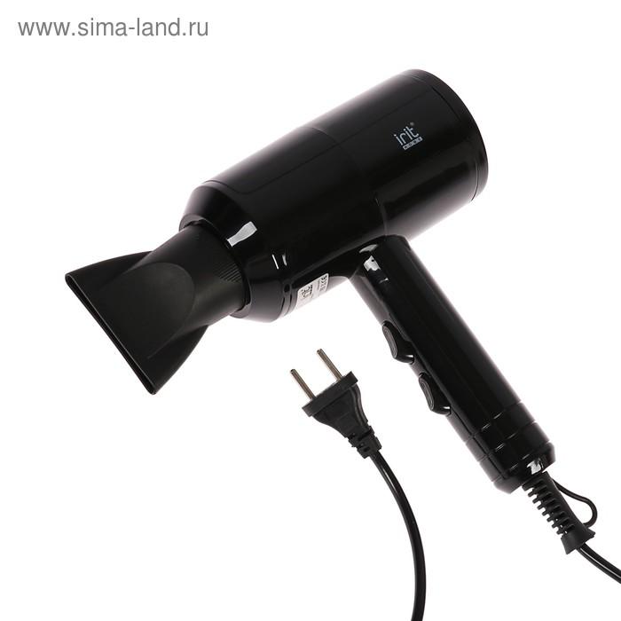 Фен Irit IR-3103, 1500 Вт, 2 скорости, 2 режима, концентратор, чёрный