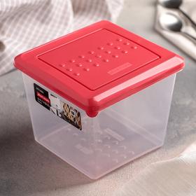Ёмкость для хранения продуктов 1 л Pattern, цвет коралловый
