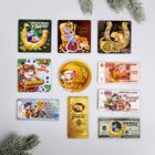 Магнит новогодний микс «Денежного года», полимер, 10 видов