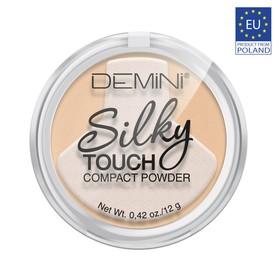 Пудра для лица компактная DEMINI Silky Touch, № 01 светло-бежевый