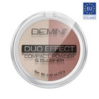 Пудра для лица компактная DEMINI Duo Effect Compact Powder & Blusher, № 21