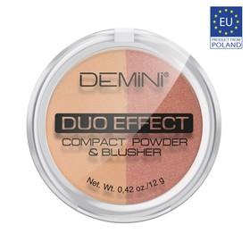 Пудра для лица компактная DEMINI Duo Effect Compact Powder & Blusher, № 25
