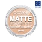 Пудра для лица DEMINI Matte Powder Transparent Shine Control SPF15, № 02 натуральный