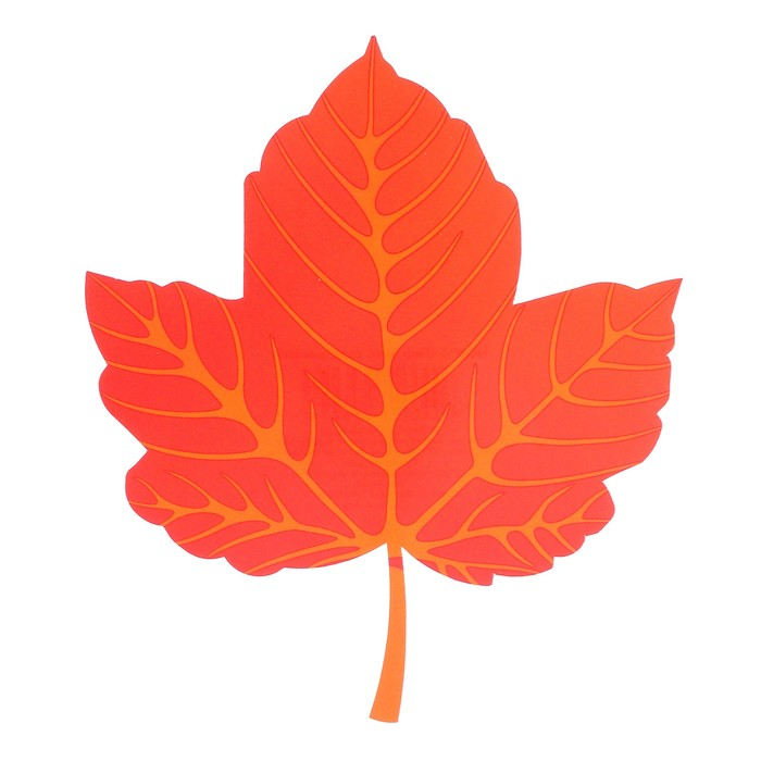 Мини-плакат вырубной Лист винограда красный 13,4 х 15,5 см