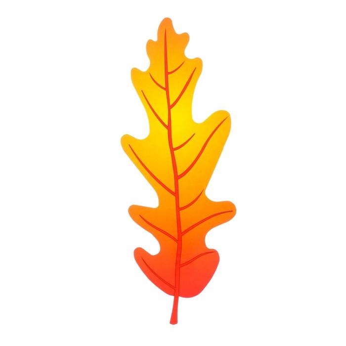 Мини-плакат вырубной Лист дуба красный 6,1 х 16,6 см