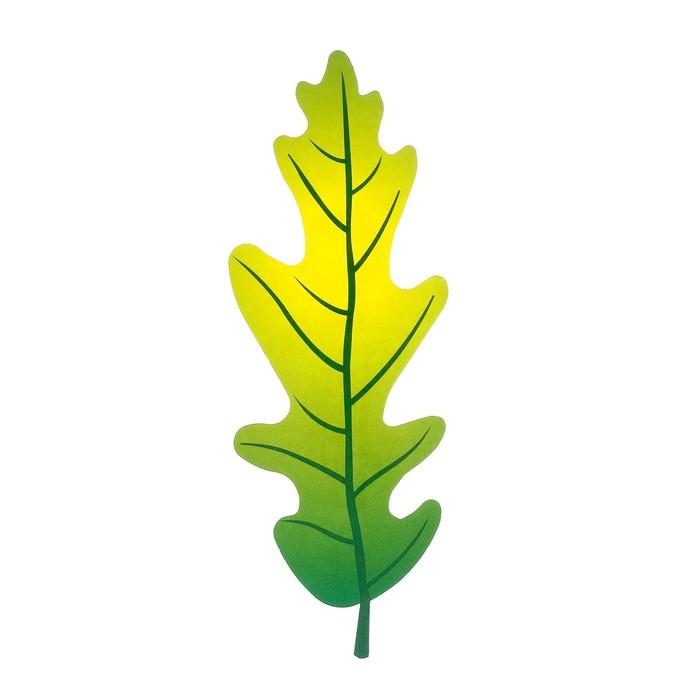 Мини-плакат вырубной Лист дуба зеленый 5,1 х 14,4 см