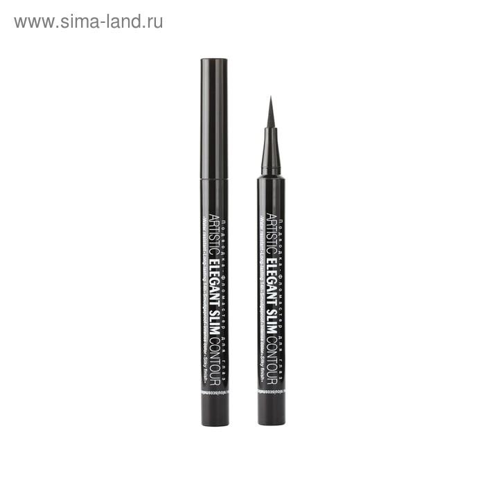 Подводка-фломастер для глаз Relouis Artistic Elegant Slim Contour, цвет черный
