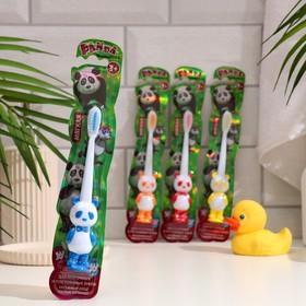 Зубная щетка Vilsen brush «Панда медвежонок», детская, цвет МИКС
