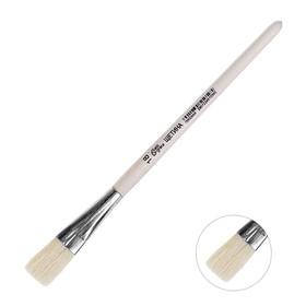 Кисть Щетина плоская №18 (ширина обоймы 18 мм; длина волоса 26 мм), деревянная ручка, Calligrata Ош