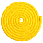 Скакалка гимнастическая утяжелённая, верёвочная, 2,5 м, 150 г, цвет жёлтый