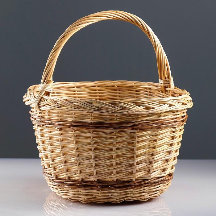 Корзина «Осень», 44×35×25/42 см, ручное плетение, ива