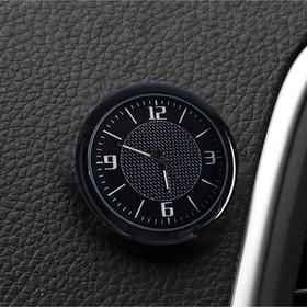 Часы автомобильные, внутрисалонные, d 4.5 см, черный циферблат Ош