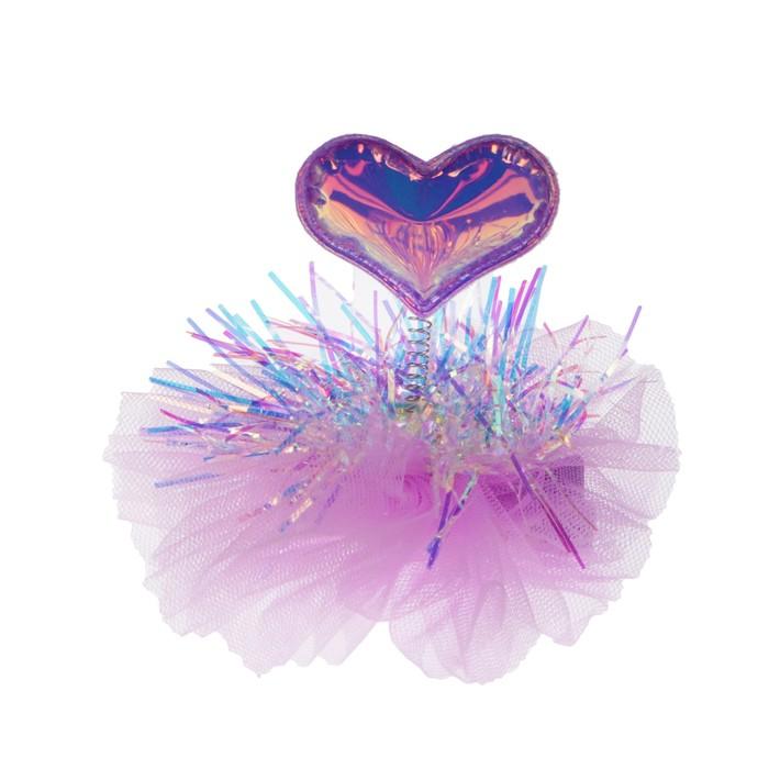Карнавальный зажим «Сердечко», цвета МИКС