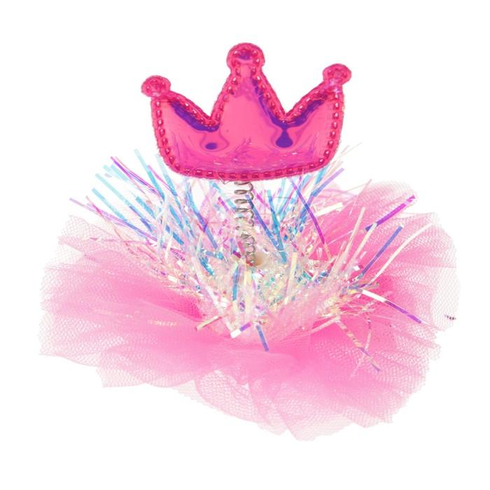 Карнавальный зажим «Принцесса», цвета МИКС
