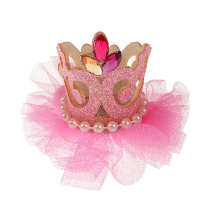Карнавальный зажим «Королева», цвета МИКС