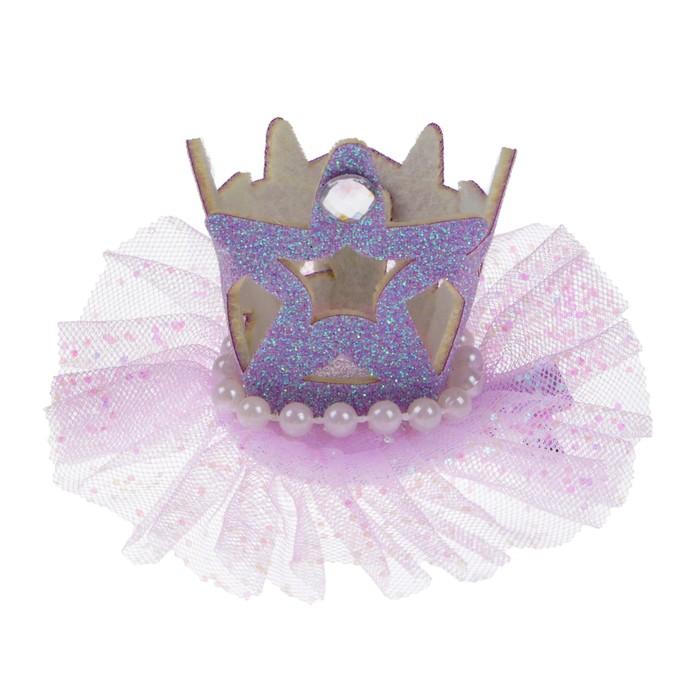 Карнавальный зажим Корона, цвета МИКС