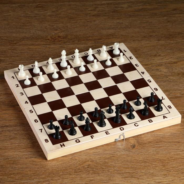 Фигуры шахматные пластиковые король h4.2 см, пешка 2.см