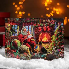 """Доска разделочная 23×16 см """"С Новым Годом! Добрый Дедушка Мороз"""""""